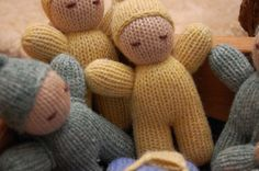 Waldorf knitted doll