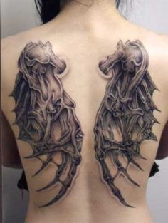 Gothic Tattoos with Wing Designs
