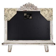 Distressed Wood Framed Table Top Free Standing Chalkboard / BlackBoard – lightaccents.com