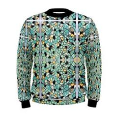 they are really upping the ante huh Dimensions No.3 Teal Green Black Mens Sweatshirt by Le Closet #5 – ABBY ESSIE