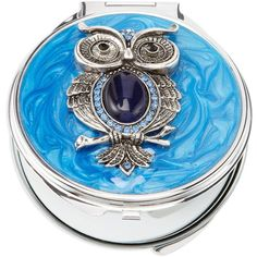 SPRING STREET Owl Compact Mirror found on Polyvore