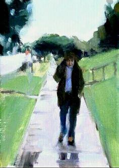 Walking in the rain. #painting. #art