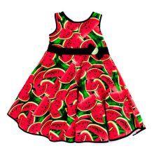 Φορέματα - Ρούχα Για Κορίτσια Για Πάρτι - Εκδύλωση :: Jelly Bean Kids Collection 2014 :: Jelly Bean Kids Εντιπωσιακό Καλοκαιρινό Φόρεμα με Εμπριμέ Καρπούζι - MEMOIRS Νυφικά και Γυναικεία Φορέματα