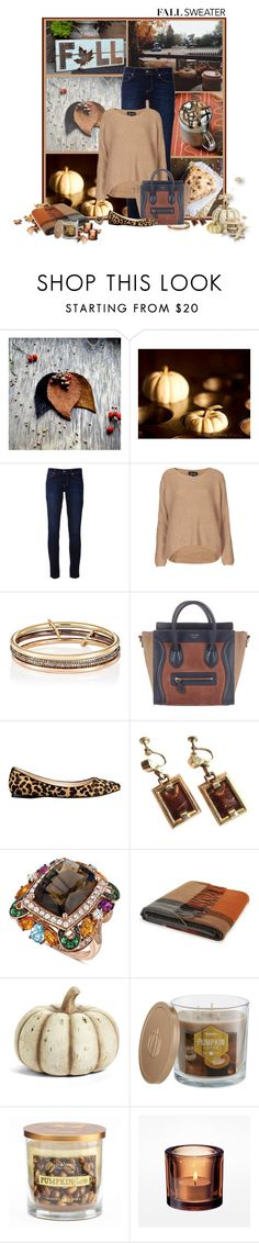 """""""Tan and Navy"""" by fashionista88 ❤ liked on Polyvore featuring Hostess, Paige Denim, Topshop, SPINELLI KILCOLLIN, CÉLINE, Nine West, LE VIAN, K&K Interiors, SONOMA Goods for Life and fallsweaters"""