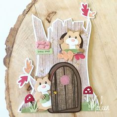 byMarleen: How to... Craft stencil Treehouse by Marleen Marianne Design Cards, Cute Hamsters, Craft Stencils, Treasure Boxes, Stencil Designs, Felt Art, Love Cards, Box Design, Banners