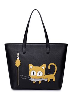 All-match lovely cat print fashion women handbags BS-170814-01