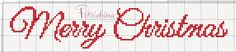 Merry Christmas schema punto croce - cross Stitch - Kreuzstich - Punto de Cruz