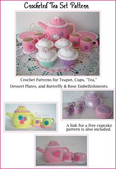 Crocheted Tea Pattern Set