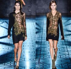 Animale 2014 Winter Runway Collection - São Paulo Fashion Week Brazil - Inverno 2014 Mulheres Desfiles - Celtic Mystique - Intricate Lace Tu...