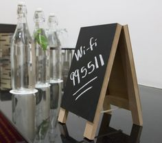 Use a small, simple chalkboards to inform guests of important information.