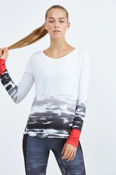 Degrade Graphic Print Long Sleeve Tee by Bandier
