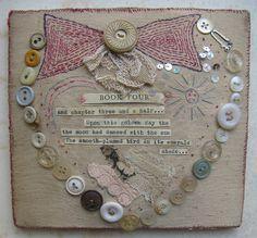 Jessie Chorley – The Art Shop & Chapel Button Art, Button Crafts, Fabric Journals, Fabric Books, Fabric Hearts, Prayer Flags, Textiles, Sewing Art, Handmade Books
