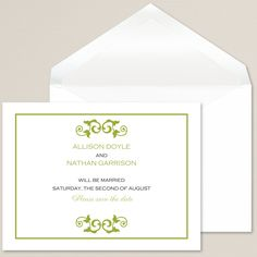 Blissful Save the Date Card | #exclusivelyweddings