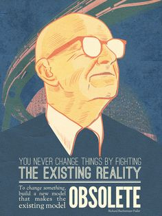 #Buckminster Fuller poster project by sdov