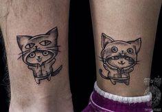 WEBSTA @ art_of_pain_tattoo - Милейшие парные татуировки в исполнении Елизаветы Останиной❤Работаем в студии на Ленина 43а. Телефон: 948-28-03#art_of_pain_tattoo #tattoo #russiantattoo #tattooinrussia #татуировкивспб #tattoo #татуировка #artofpainstudio #