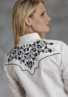 Victorian Vines : Womens Embroidered Cowgirl Shirt   Free Shippin on Western Shirts