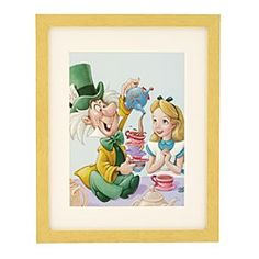 $39.50 Alice & The Mad Hatter - Celebration in Wonderland Framed Lithograph http://www.disneystore.com/home-accents-home-decor-alice-the-mad-hatter-celebration-in-wonderland-framed-lithograph/mp/1224903/1000247/