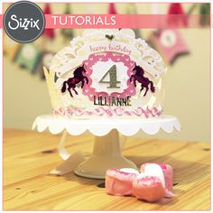 Sizzix Tutorial | DIY Birthday Crown by Tiffany Johnson