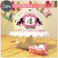 Sizzix Tutorial   DIY Birthday Crown by Tiffany Johnson