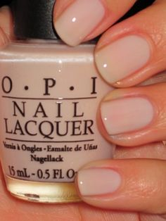 OPI Bubble Bath - a soft and feminine color which goes with so much, also comes in gel.
