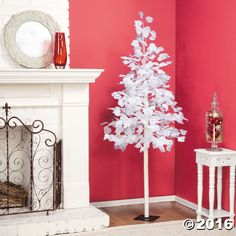 While it's always sad to take down the Christmas tree after the holidays, this marvelous Winter Tree with Snow can stay up all winter long! White leaves ...
