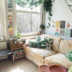 32 Cozy Boho Living Room Decor Ideas , The room doesn't have a lot of decor items. however, it's sufficient to enjoy for everybody. If you want to observe that room when it's completed, I w. Boho Living Room, Home And Living, Living Spaces, Bohemian Living, Cozy Living, Home And Deco, Style At Home, My New Room, Cozy House