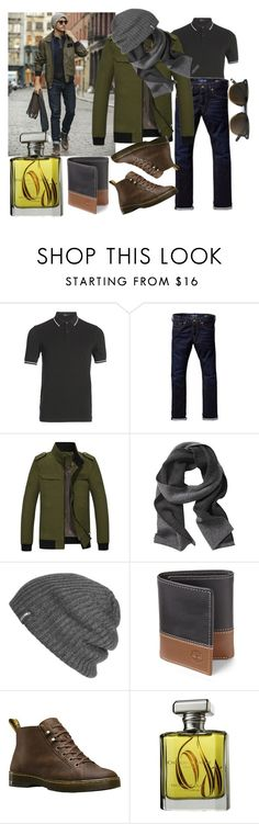 """""""Casual style"""" by kseniapolanska on Polyvore featuring Fred Perry, Scotch & Soda, Banana Republic, Outdoor Research, Timberland, Dr. Martens, ORMONDE JAYNE, men's fashion и menswear"""