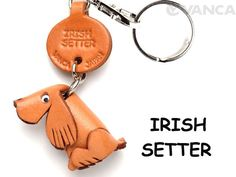 Irish Setter Leather Dog Keychain 【Handmade in Japan】【Dog Goods】
