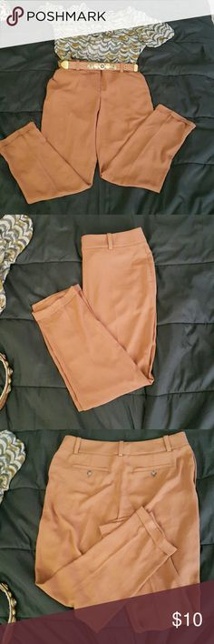 Brown pants Dis is a new pant i got and was too big for me LOFT Pants Trousers