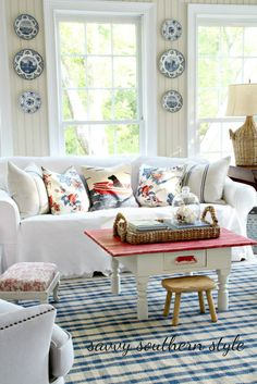 Remembering Red, White and Blue Decor in My Favorite Rooms