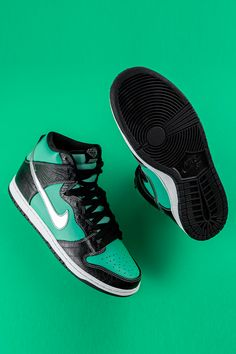 nike high top dunks with journal and paper designs