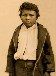 Comanche boy Pease Ross was the only male survivor of the 1860 raid in which Cynthia Ann Parker was recaptured from the tribe. Texas Ranger and soldier Sul Ross found the boy and took him to Waco to live with the Ross family. Offered the opportunity to return to the Comanches, he chose to stay with his adopted family. He eventually married the daughter of a former slave. This tintype photo is one of the oldest photographic images of a Comanche. Source: Lawrence T. Jones III. Photo: 1861.