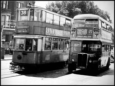 172 bus New Cross Gate 1951.