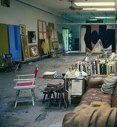 Motherwell & Frankenthaler's studio