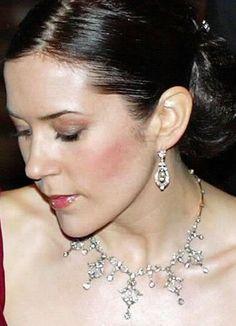 Denmark Miss Mary's wedding tiara as necklace
