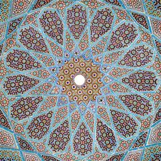 Techo de la tumba del poeta persa Hafez, Shiraz, Irán - Cortesía de Wikipedia