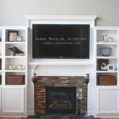 Thinking of a fireplace / bookshelf wall for the TV - looking at shelf designs