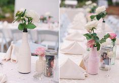 DIY vases!   elegant destination florida wedding   photo by Goode Green Photography   100 Layer Cake