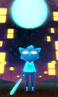 """zetrystan: """"A game I've been following for a while, Night in the Woods, came out a few days ago, and I was able to play a little bit of it. It's a very very very very very very very very very pretty..."""
