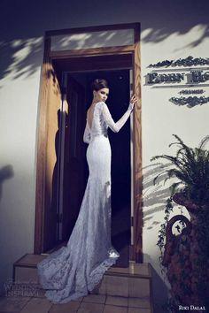 http://weddinginspirasi.com/2014/01/23/riki-dalal-wedding-dresses-2014-bridal-collection/ riki dalal #wedding dresses 2014 long sleeve sheath gown back detail #weddings #weddingdress #bridal #sposa #novia