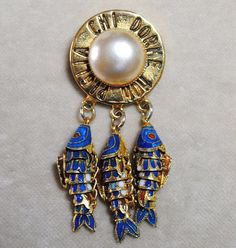 Extremely rare vintage Moschino brooch