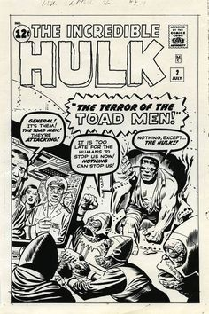 Cover to HULK #2 by Jack Kirby and Steve Ditko