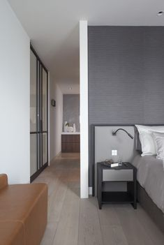 Penthouse between water and city Pent House, Master Bedroom, Living Spaces, New Homes, Flooring, Mansions, Contemporary, City, Interior