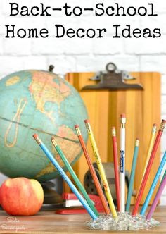 Vintage office and school supplies are charming and often easy to find at thrift stores. And they are PERFECT to use as back-to-school decor as Fall rolls around. Get the young and young-at-heart into the scholastic spirit with these upcycling ideas and schoolhouse decor inspiration projects! #backtoschool #falldecor #vintageschoolhouse #vintageofficesupplies #vintageoffice #vintageschoolsupplies #oldschoolhouse #backtoschooldecor #schooldecor #schoolhousedecor