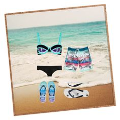 """""""Beach date"""" by kayleighbug02 ❤ liked on Polyvore featuring Billabong, Sweaty Betty, J.Crew, Gap, Aéropostale, GetTheLook and Swimsuits"""