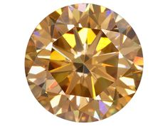 Lab Created Strontium Titanate Champagne  Min 3.60ct 9mm Round Diamond Cut Color Will Vary