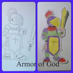 Armor of God - Color and cut out then use a brad to secure the sword. Cute bookmark to remind kids what each piece stands for.