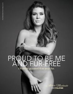 """Beauty queen and actor Alicia Machado flaunts her curves and declares, """"Proud to Be Me and Fur-Free: I'd Rather Go Naked Than Wear Fur."""""""