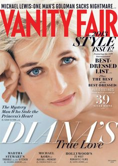 Lady Di on the cover of Vanity Fair for August, Graceful.She died way too soon. Lady Di on the cover of Vanity Fair for August, Graceful.She died way too soon. Mario Testino, Lady Diana Spencer, Princesa Diana, Hasnat Khan, Dodi Al Fayed, Vanity Fair Magazine, Michael Lewis, Princess Diana Pictures, Madly In Love