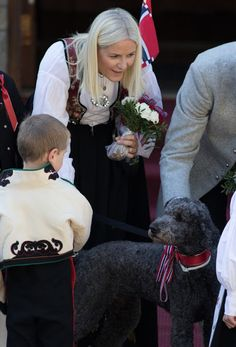 King Harald and Queen Sonja of Norway, Crown Prince Haakon and Crown Princess Mette-Marit of Norway, Prince Sverre Magnus, Princess Ingrid Alexandra of Norway celebrate Norway National Day on May 17, 2016 in Asker, Norway.